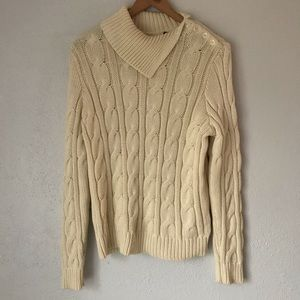 Lauren Ralph Lauren Cream Cable Knit Sweater